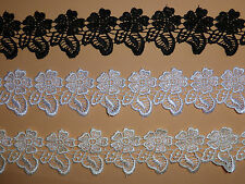 """*The Place For Lace*  Quality Flower and Leaf Venise Guipure Lace Trim 2""""/4.5cm"""
