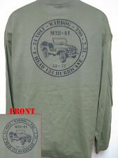 MILITARY/ WILLYS JEEP M38-A1 LONG SLEEVE T-SHIRT/ F HEAD HURRICANE 134/  NEW