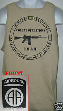 82nd AIRBORNE tank top T-SHIRT/ IRAQ COMBAT OPS  / MILITARY/   NEW