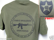 2nd I.D. T-SHIRT/ AFGHANISTAN COMBAT OPS/ MILITARY T-SHIRT/  NEW