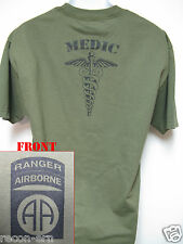 82ND AIRBORNE RANGER T-SHIRT/ MEDIC/ COMBAT/ ARMY/  NEW