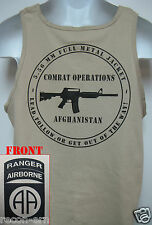 82nd AIRBORNE RANGER tank top T-SHIRT/ AFGHANISTAN COMBAT OPS / MILITARY/   NEW