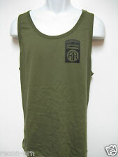 82ND AIRBORNE RANGER od green TANK TOP T-SHIRT/ FRONT PRINT ONLY/ MILITARY/  NEW