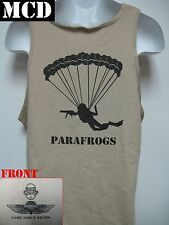 USMC FORCE RECON TANK TOP/ MCD/ PARAFROGS TANK TOP/ MILITARY/ MARINES T-SHIRT