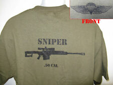 USMC T-SHIRT/ .50 CAL SNIPER/ USMC GOLD WINGS
