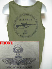 USMC FORCE RECON TANK TOP/ OD/ M14 M1A TANK TOP/ NEW/ MARINES/  MILITARY