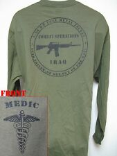 ARMY  MEDIC T-SHIRT/ MILITARY/ IRAQ COMBAT OPERATIONS T-SHIRT/  NEW