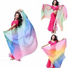 Belly Dance Accessories Silk Head Piece Shawl Veil Scarf Dancing Costume Dress