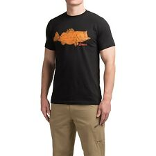 Simms Fly Fishing Tightlines Bass S/S T Shirt - Black - Choose Size - NEW!