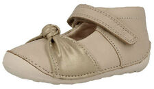 Clarks LITTLE NIA Girls Infants Cream Leather First Cruiser Shoes 2 - 5 FGH Fit