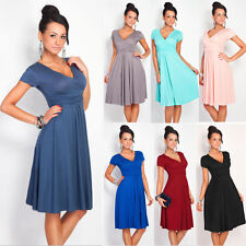 Women's Short Sleeveless Party Dress Evening Cocktail Pleated Casual Dress p26