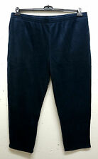 NEU Plus size bequeme soft Men's Fleece Leisure Trousers in blue 58,60,62,64