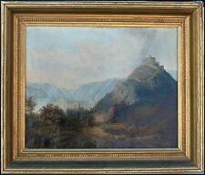 R.SMITH, b. 1812, BEAUTIFUL AMERICAN HUDSON RIVER LANDSCAPE, LISTED