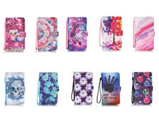 Fashion Pattern Stand Flip PU Leathe Card Slot Wallet Case Cover For iPhone Ipod