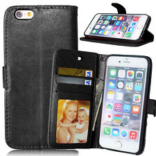 New Luxury 3 Card Slot Stand Leather Flip Wallet Case for iPhone 4s 5s 6s 6 plus