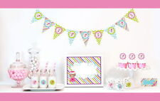 Mod Sweet Shoppe Girl Birthday Party Baby Shower Table Decor Kit Place Cards +