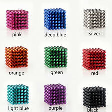 Magic Cube Puzzle Magnetic Magnet Balls Spacer Beads Kids Child DIY Toys 216x5MM