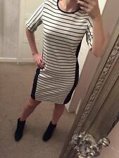 Marks & Spencer black and white nautical stripe tunic dress BN sz 6 - 18 RRP50