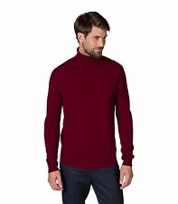 WoolOvers Mens New Cashmere Polo Neck Long Sleeve Casual Top Sweater Jumper