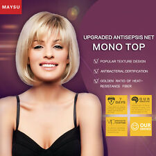 MAYSU Short Human Hair Wigs For Women Human Hair Bob Wig Bob Hair Short Wigs