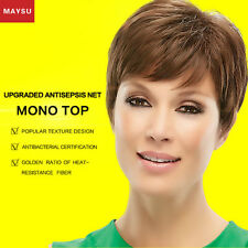 MAYSU Short Human Hair Wigs For Women Brazilian Virgin Hair Human Hair Short Wig