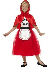 Girl's Deluxe Red Riding Hood Fancy Dress Costume