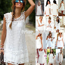 New Womens Celeb Sexy Mini Playsuit White Jumpsuit Summer Shorts Beach Sun Dress