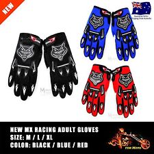 ADULT PEEWEE MOTOCROSS MOTORBIKE RACING GLOVES BMX/ATV/QUAD/DIRT ROAD BIKE AU