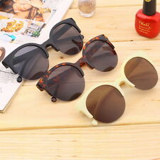 Hot Fashion Unisex Retro Round Circle Frame Semi-Rimless Sunglasses OH
