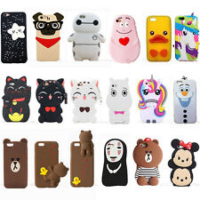 Cute 3D Anime Kawaii Soft Silicone Phone Case Cover Back Skin Shell For iPhone