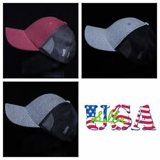 Plain Baseball Cap Quilt Hat Trucker Hats Fashion Mesh Caps Visor Unisex Gray