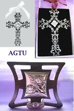 Filigree Pewter Cross First Holy Communion Confirmation Gift Keepsake