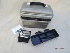 ZEBRA HARD SHELL VANITY CASE,COMBINATION+KEY LOCK,TRAY,MIRROR,LINED,CLEAN,2 KEYS