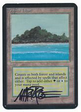 Tropical Island Alpha Dual Land Vintage Legacy MTG - signed by Mark Poole
