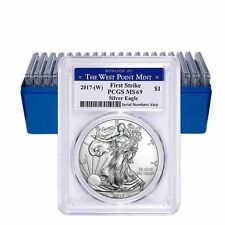 One NEW 1 oz  2017-W Silver American Eagle $1 Coin PCGS MS 69 First Strike