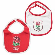England RFU Rugby Football Union 2 Pack Infants Baby Bibs Red/White
