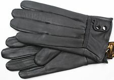 BLACK MEN'S LAMBSKIN LEATHER WINTER DRIVING EVERYDAY GLOVES SMALL LARGE XLARGE