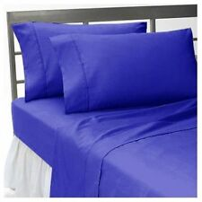 GLORIOUS UK-BEDDING COLLECTION ROYAL BLUE SOLID 1000TC EGYPTIAN COTTON ALL SIZE