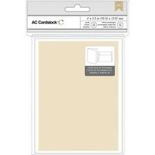 "American Crafts A2 Cards W/Envelopes (4.375""X5.75"") 12/Pkg-Kraft 366022"