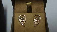 Welsh Clogau Silver & Rose Gold Peacock Pearl Earrings RRP £79