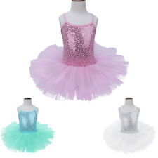 Lovely Girl Sequined Ballet Dress Leotard Tutu Skirt Gymnastic Dancewear Costume