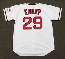 BOBBY KNOOP California Angels 1969 Majestic Cooperstown Home Baseball Jersey