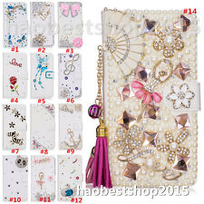 Magnetic Bling Luxury Diamonds Crystal PU Leather wallet flip Slots Cover Case 9