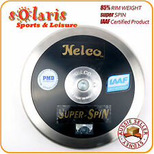 NELCO SUPER SPIN Black Discus 85% Rim Weight IAAF Certified FREE Carry Bag