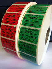 Personalised PAT Testing Stickers Electrical Labels, Pass or Fail