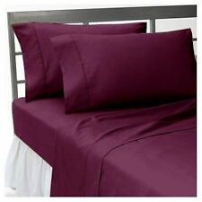 US KING SIZE WINE SOLID 1000TC 100%EGYPTIAN COTTON  BEDDING COLLECTION