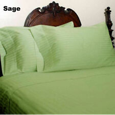 US QUEEN SIZE SAGE STRIPE 1000TC *EGYPTIAN COTTON BEDDING COLLECTION