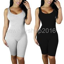 Women's Sleeveless Backless Romper Knee Length Sexy Jumpsuit Playsuit