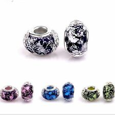 Fashion Faceted Silver Core Resin DIY Beads fit European Charm Bracelet RSB24