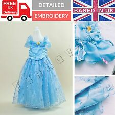 Cinderella Princess Party Fancy Dress Age 5 6 7 8 Girls Disney Princess Costume